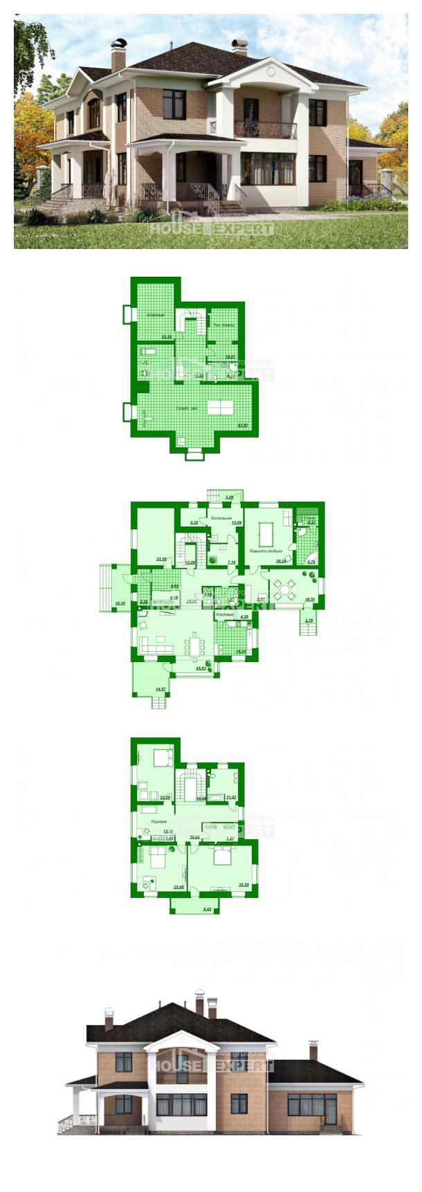 Проект дома 520-001-П   House Expert